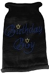Birthday Boy Rhinestone Knit Pet Sweater MD Black